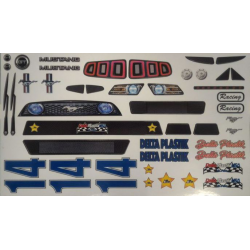 Delta Plastik Decals for Ford Mustang Body (1/8)