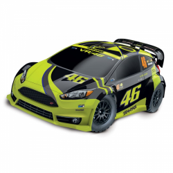 Rc Car Electric Traxxas VR46 Ford Fiesta ST Rally 4WD RTR Valentino Rossi Edition