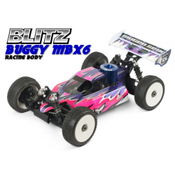 Blitz Buggy Mugen MBX6 1/8 Off/Road Body With Decals