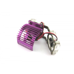 TopCad Twin Fans Heat Sink for 540 Motor (Purple)