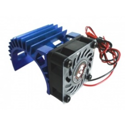 3 Racing Motor Heat Sink W/Fan V2 For 540 Motor (Fan-Shaped) Blu
