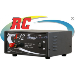 Rc System PowerX 12V 12A DC Power Supply