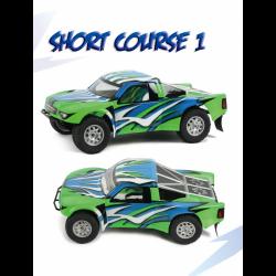 Blitz Carrozzeria Short Course Truck SC1 con adesivi