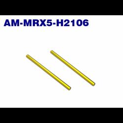 ArrowMax Front Upper Arm Shaft (Spring Steel) (2) for Mugen MRX5