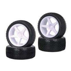 TopCad 1/10 Set Wheel & Tire Pattern Bow-Tie (4pc)