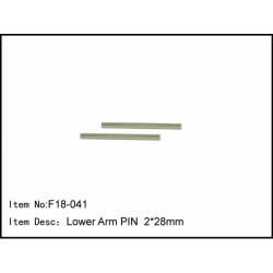 F18-041 Caster Racing F18 Lower Arm Pin 2x28mm