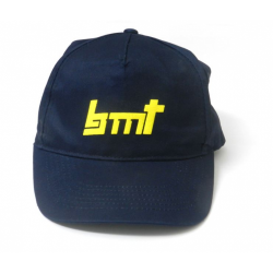BMT Blue Cap with logo Front and Rear
