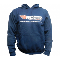 RcModelStore Blue Sweatshirt with logo Front and Rear (XL Size)
