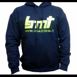 BMT Felpa con cappuccio Blu con loghi fronte e retro (XL)
