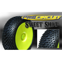 ProCircuit Sweet Shot 1/8 Buggy Tyres Mounted on Rims (S.Soft)