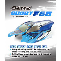 Blitz Buggy F6B 1/8 Off/Road Body With Decals