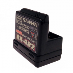 Sanwa Ricevente RX482 2.4GHZ - FHSS 4 SSL con antenna interna