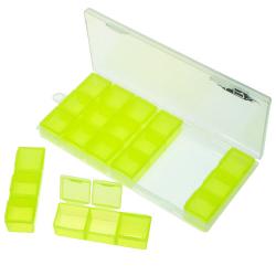 Yeah Racing scatolina porta minuteria piccola (21 slot) colore giallo 179x80x20