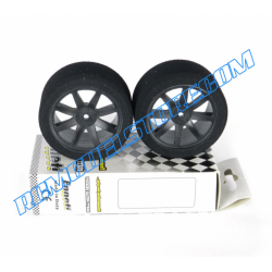 Enneti Front Touring Car 1/10 Mounted on Carbon Rims (WET)