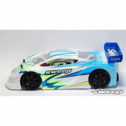 Sweep P1L GT 1/8 Rally Clear Body with Decals