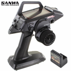 Sanwa M12S RS FH4T 2.4GHz Radio System w/RX482 4-Channel Receiver