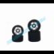Enneti 10 Set Front/Rear 1/8 On/Road Tires on Carbon Rims 32/35 Shore