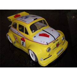 Delta Plastik Fiat 500 Abarth 1/8 Rally Game Body