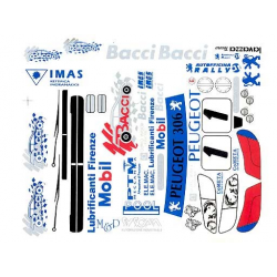 Delta Plastik Decals for Peugeot 306 Maxi Body (1/8) (Only Light