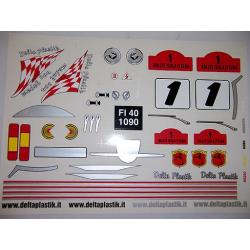 Delta Plastik Decals for Fiat 500 Abarth Body (1/8)