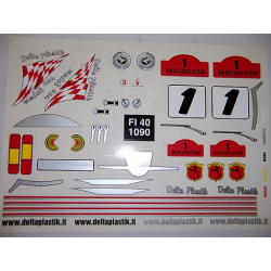 Delta Plastik Decals for Fiat 500 Abarth Body (1/10)