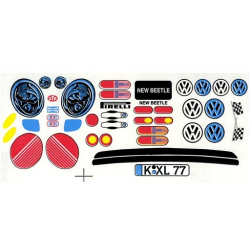 Delta Plastik Adesivi per carrozzeria Volkswagen New Beetle 1/10