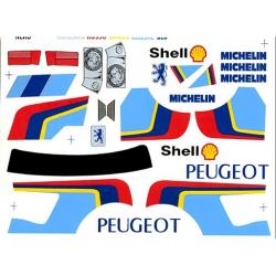 Delta Plastik Adesivi per carrozzeria Peugeot 205 Turbo (1/10)