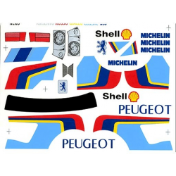 Delta Plastik Decals for Peugeot 205 Turbo Body (1/10)