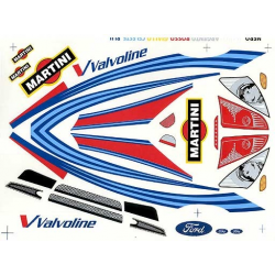 Delta Plastik Decals for Ford Focus WRC Body (1/10)