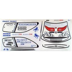 Delta Plastik Adesivi per carrozzeria Peugeot 206 WRC (1/10)