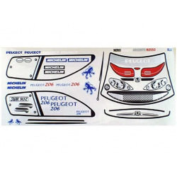 Delta Plastik Decals for Peugeot 206 WRC Body (1/10)