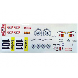 Delta Plastik Decals for Mini Cooper Body (1/10)