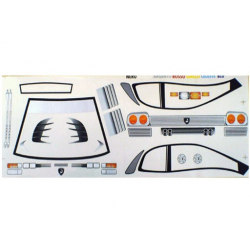 Delta Plastik Decals for Lamborghini Diablo Body (1/10)