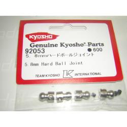 92053 Kyosho Uniball 5.8mm barra stabilizzatrice (4pz)