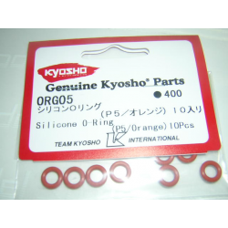 ORG05Kyosho Silicone O-Ring (P5/Orange) 10Pcs