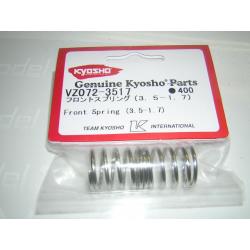 VZ072-3517 Kyosho Front Spring Silver (3.5-1.7)