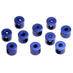 W0151Kyosho Collarini 2mm per tiranteria in ergal blu