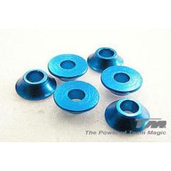 Rondelle coniche 3mm.(blu)