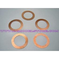 """Novarossi .12 Head Shim 0.10mm/0.004"""" Copper (5 pcs)"""