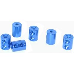 Collarini x leveraggi doppio bloccaggio (6pz) blu