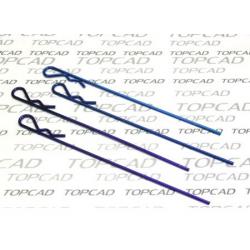 Clips lunghe verniciate blu per 1/8 (4pz)