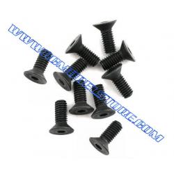 Flat Head Screw 4x10mm (10pcs)