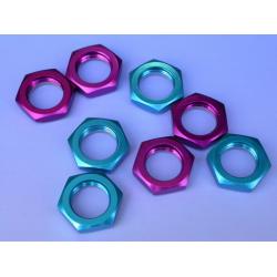 Fastrax 17mm X 1.00 Blue Serrated Wheel Nuts (4Pcs)