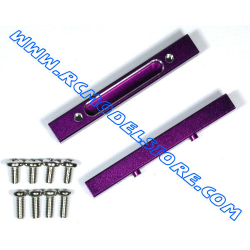 GPM F/R Alloy Chassis Mount Set (Purple) fits HPI Savage & X