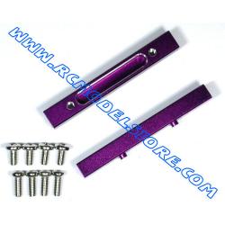 GPM Savage HPI rinforzi telaio in ergal (purple) (2pz)