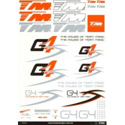 118006 Foglio adesivi G4S grande (295x210mm)