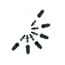 115022BK 4mm Ball Stud & Shock Ball Cup (6pcs)
