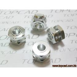 12214S Trascinatori ruote completi di dadi (Silver) (4+4pz)
