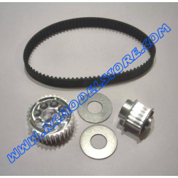 MU0820 Kit Alu. Pulley Z32 + Alu. Pulley Z18 + Front Belt