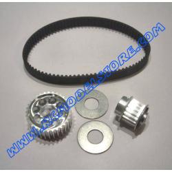 MU0820 Kit puleggie anteriori in ergal + cinghia